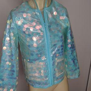 Justice -  sequin raincoat